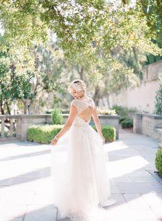 #fashion, #tulle, #dress, #a-line  Photography: Koman Photography - komanphotography.com Wedding Dress: Casablanca Bridal - casablancabridal.com