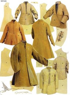 FCBTC / 17th Century Mens's Coats and Doublets