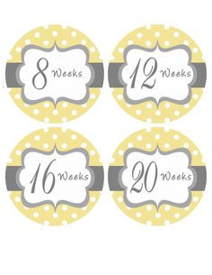 Pregnancy Stickers Weekly Baby Bump Stickers New Mom Gift by BumpAndBeyondDesigns, $10.00