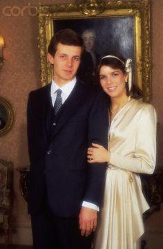 29 Dec 1983, Monaco --- Princess Caroline of Monaco with her new husband Stefano Casiraghi at the Royal couple's wedding.