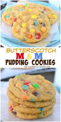 butterscotch m&m cookies!