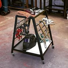 This compact Northern Industrial Welders 2-shelf clamp cart provides perfect storage for your #welding clamps and magnets. The 31.5in.H cart fits under most workbenches to stay tucked out of the way. #WeldersWednesday