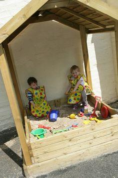 Shady Sand Box Hut with Tarpaulin Outdoor Playground Equipment  www.wicksteed.co.uk/outdoor-play-equipment.html