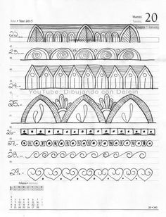3 de 20 Me auto impuse un reto de 100 lineas para Mandala esta es la hoja 3 de 20, pertenece a la serie de videos de Mandalas que he compartido en mi canal donde les muestro el paso a paso para dibujar un Mandala Mandala Doodle, Easy Mandala Drawing, Mandala Art Lesson, Simple Mandala, Mandala Pattern, Zentangle Patterns, Mandala Design, Zentangles, Music Doodle