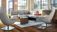 Massaud Lounge Chairs, Sebastopol Tables and Lagunitas Sofa by Coalesse
