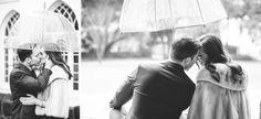 Black and white engagement photos // Romantic engagement photos // Rainy day engagement session // Aaron and Jillian Photography » Husband and Wife International Engagement & Wedding Photographers based in Charleston, South Carolina.