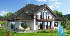 Proiectul de Casa de locuit cu parter, mansarda si garaj   Proiectari si Constructii Design Case, Home Fashion, Gazebo, Villa, Outdoor Structures, House Design, Cabin, House Styles, Home Decor