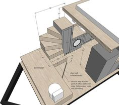 Ana White Tiny House Stairs Spiral Storage Style DIY Projects Stunning Plans With Back, best images Ana White Tiny House Stairs Spiral Storage Style DIY Projects Stunning Plans With Back Added on musicdna Tiny House Stairs, House Staircase, Tiny House Loft, Small Tiny House, Tiny House Storage, Tiny House Living, Tiny House Plans, Tiny House Design, Tiny House On Wheels
