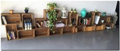 fruit crates shelving project
