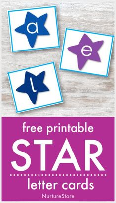 printable alphabet cards with stars on, star letter activities, space theme literacy centers