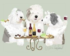 """Black Old English Sheepdog 