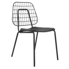 The Urban Metal-Wire Chair, Black brings your room to life. Visit your local At Home store to purchase and find more affordable Accent Chairs. Decor Interior Design, Interior Decorating, Black Metal Chairs, Wire Chair, Occasional Chairs, Circle Design, At Home Store, Breakfast Nook, Recliner