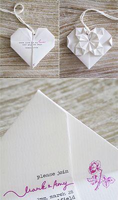 wedding invitation origami wedding - Boutonnire Invit Mariage
