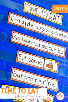 Who is ready for turkey?! Thanksgiving is famous for turkey dinners, but what do you think the turkey has to say about it? This funny Thanksgiving interactive poem will keep your young learners laughing the entire time. Perfect for preschoo, pre-k and kindergarten classrooms, this interactive poem has so many benefits for early readers. Grab the FREE poem for your Thanksgiving unit. #thanksgiving #reading #preschool #prek #kindergarten Preschool Speech Therapy, Speech Therapy Activities, Kindergarten Literacy, Language Activities, Literacy Activities, Thanksgiving Poems, Thanksgiving Preschool, Cvce Words, Preschool Programs