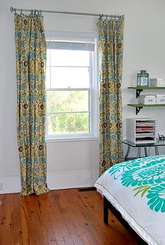 The Feminist Housewife: No Sew Curtains