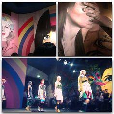 Art, pop brights and fabulous fashion at Prada SS14 #mfw #fashionweek