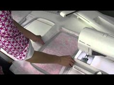 Husqvarna Viking Designer Ruby 62 How to Hoop the Fabric - YouTube