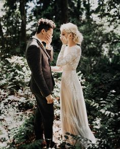 """@indiaearl on Instagram: """"In the middle of doing portraits before the ceremony, reality set in that they were finally going to be married to one another. Then all the happy & excited tears spilled out, and they cried in the woods together. This is what it's all about."""""""