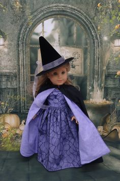 Bewitched - witch costume for American Girl doll **RESERVED by cupcakecutiepie on Etsy