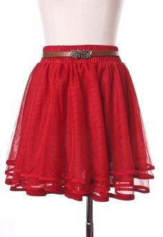 Delicacy Triple Layers Tutu in Red