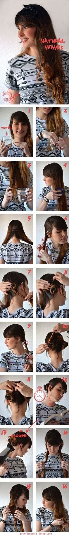 ~ DIY Make a Natural Waves For Your Hair ~