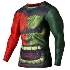 New SuperHero Sport Fitness Compression Shirt - Long Sleeve