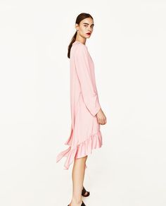 Image 4 of FRILLED MIDI DRESS from Zara