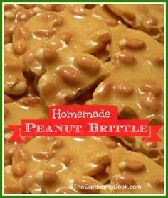 Try Homemade Microwave Peanut Brittle! You'll just need 1 cup of granulated sugar, cup of light corn syrup, 1 cups of dry roasted peanuts, 1 tbsp of. Homemade Peanut Brittle, Microwave Peanut Brittle, Peanut Brittle Recipe, Brittle Recipes, Microwave Caramels, Candy Recipes, Holiday Recipes, Dessert Recipes, Yummy Treats