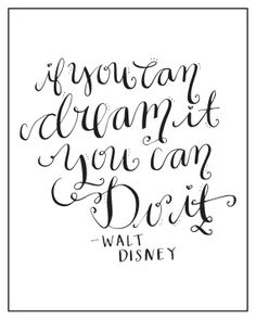 Calligraphy Print Disney Quote by ACharmingOccasion on Etsy, $10.00