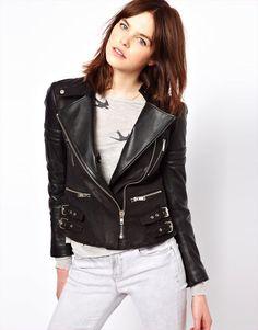 Zoe Karssen Leather Biker Jacket