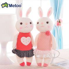 Mewah manis lucu indah stuffed bayi anak toys untuk anak perempuan ulang tahun hadiah natal 11 inch tiramitu metoo kelinci mini boneka