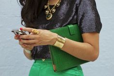 Emerald. Black. and Gold.