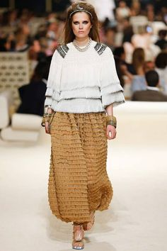 Chanel | Cruise/Resort 2015 Collection via Karl Lagerfeld | Modeled by Caroline Brasch Nielsen | May 13, 2014; Dubai | Style.com