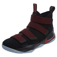 b34aad53c4049 NIKE Men s Lebron Soldier XI Shoe Black Team Red Size 11 ...  sneakertrend
