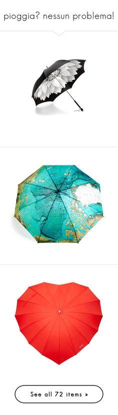 """pioggia? nessun problema!"" by kairi92 ❤ liked on Polyvore featuring accessories, umbrellas, umbrella, sweetbox, blue umbrella, ted baker, antique umbrella, black and white umbrella, folding umbrella and зонты"