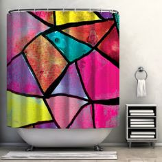 Stained Glass Shower Curtain #poachit