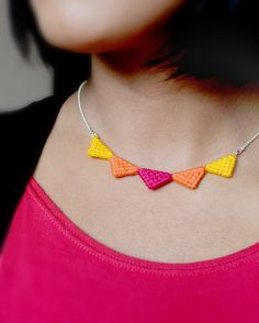 very cute triangle necklace