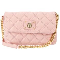 MARC JACOBS 'THE SINGLE' bag ($545) ❤ liked on Polyvore featuring bags, handbags, shoulder bags, purses, bolsas, accessories, pink shoulder bag, leather shoulder handbags, hand bags and shoulder handbags