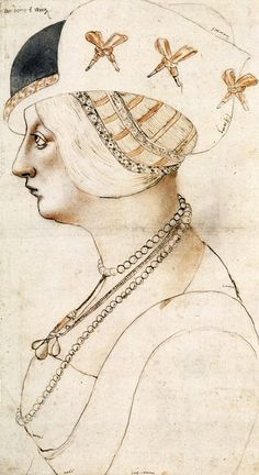 Sketch of Bianca Maria Sforza,Holy Roman Empress,died in 1510