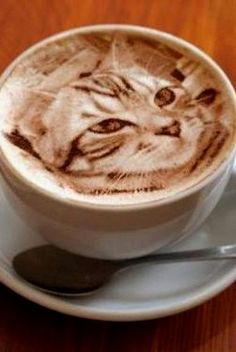 Great ways to make authentic Italian coffee and understand the Italian culture of espresso cappuccino and more! Cappuccino Art, Coffee Latte Art, Cappuccino Machine, Coffee Cafe, Coffee Shops, Coffee Drinks, Café Chocolate, Creative Coffee, Coffee Photography