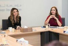 King Abdullah and Queen Rania met with pupils who graduated from secondary school with success. In addition, the royal couple met with Jordan's Olympics team. On the same day, they attended the board meeting of Jordan River Foundation. King Abdullah and Queen Rania met with Jordan's Olympics team