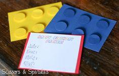 Lego birthday invitations cards