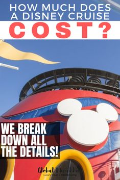 How Much Does a Disney Cruise Cost? We break down all the details! Thinking of sailing with Mickey? We are here to break down how much a Disney cruise costs, what's included and is it worth it compared to other cruises. Best Cruise, Cruise Tips, Cruise Travel, Cruise Vacation, Disney Vacations, Disney Trips, Disney Travel, Cruise Destinations, Family Vacation Destinations