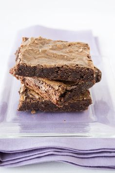 Crinkly Fudge Brownies - bound to become your family's new favorite brownie!