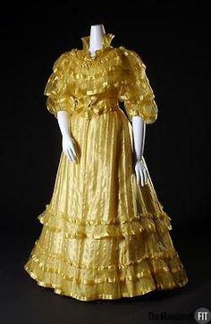 Worth afternoon dress ca. 1892  From the Museum at FIT