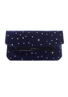 Midnight blue velvet clutch, Armani