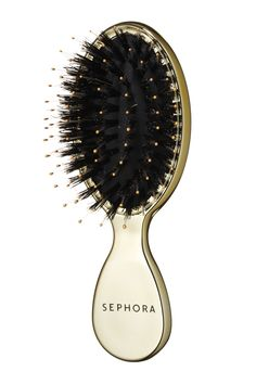 Sephora Collection Gold Star Dual Boar Brush, $15, sephora.com.   - HarpersBAZAAR.com