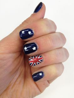 Olympics 2012: How to … Do an Australian Flag Manicure - Hands & Nails   PRIMPED