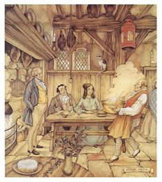 AP 06-0706 Anton Pieck, Fairytale Art, Dutch Painters, Dutch Artists, Fantasy Illustration, Fantasy Landscape, Illustrators, Fairy Tales, Sketches