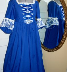 Colonial Dress Patterns For Girls | Ships Today - Colonial, Pioneer Dress & Mob Cap -- Girls Sz 8 - 10